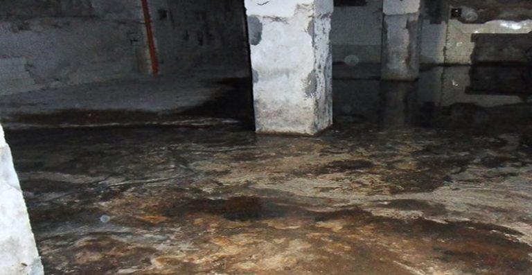 drainage cave