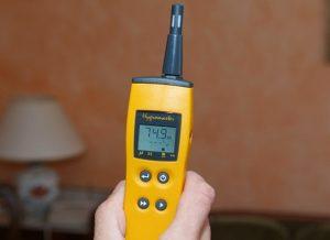taux humidité testé avec un hygromètre