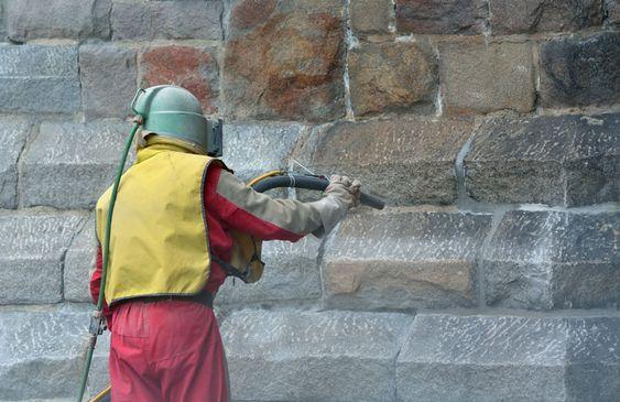 sablage murs extérieurs